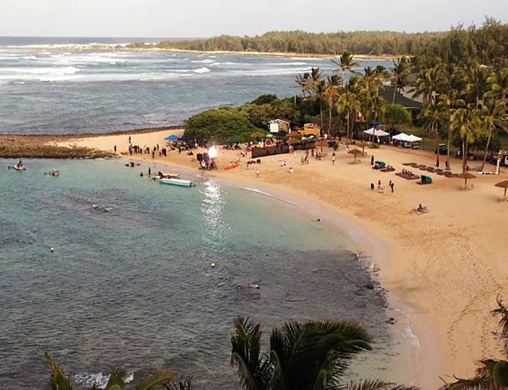 Filming of Hunger Games: Catching Fire in Kahuku, Oahu, Hawaii. Photo: Amber Case. movies filmed in hawaii